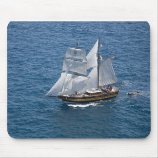 Beautiful sailing boat mouse pads