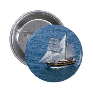 Beautiful sailing boat pinback button