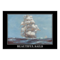 Beautiful Sails Painting vintage Poster