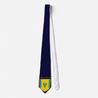 Beautiful Saint Vincent  and the Grenadines Flag Neck Tie