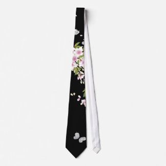 Beautiful Sakura Vintage Japanese Floral Neck Tie