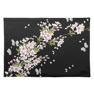 Beautiful Sakura Vintage Japanese Floral Cloth Placemat