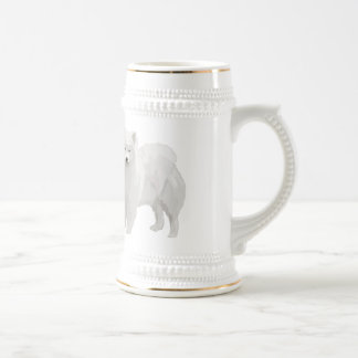 Beautiful Samoyed Beer Stein