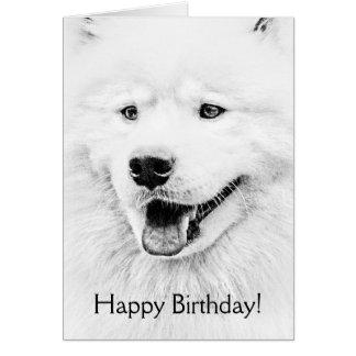 Beautiful Samoyed dog art Card