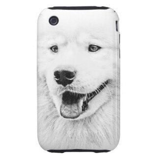 Beautiful Samoyed dog art iPhone 3 Tough Cases