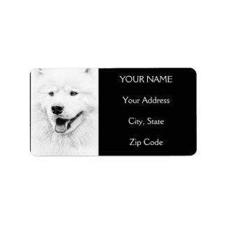 Beautiful Samoyed dog art Label