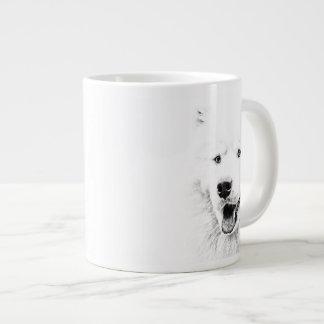 Beautiful Samoyed dog art Large Coffee Mug