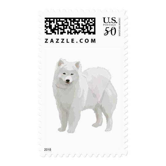 Beautiful Samoyed Postage