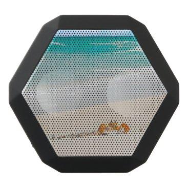 Beach Themed Beautiful Sandy Beach And Crab Black Bluetooth Speaker