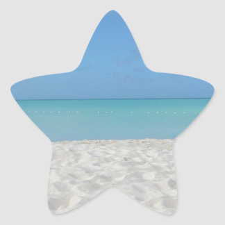 Beautiful Sandy Beach Star Sticker