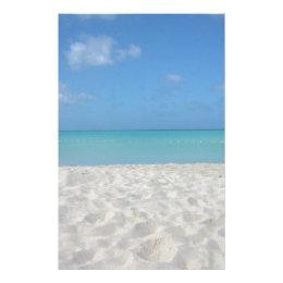 Beautiful Sandy Beach Stationery