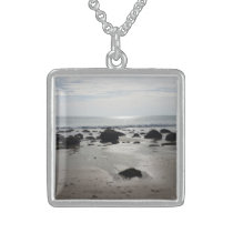 Beautiful Sandy Beach Sterling Silver Necklace