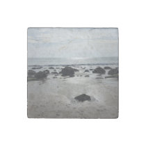 Beautiful Sandy Beach Stone Magnet