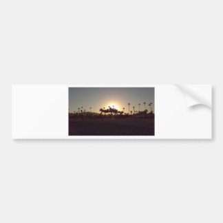 Beautiful Santa Barbara beach sunset Bumper Sticker