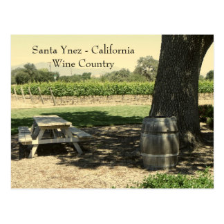 Beautiful Santa Ynez/Wine Country Postcard! Postcard