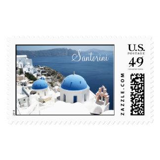 Beautiful Santorini Greece Stamps