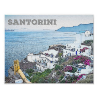 Beautiful Santorini, Greece Poster