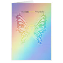 Beautiful Sarcoma Butterfly Card