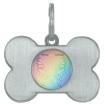 Beautiful Sarcoma Butterfly Pet ID Tag
