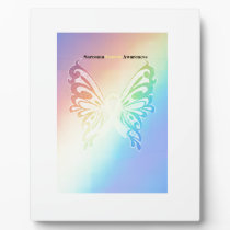 Beautiful Sarcoma Butterfly Plaque