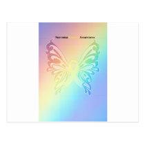 Beautiful Sarcoma Butterfly Postcard