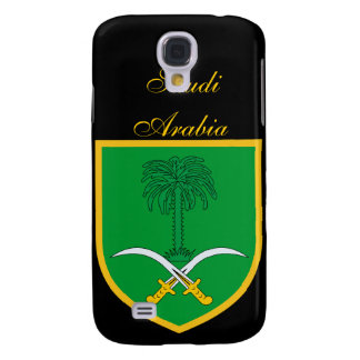 Beautiful Saudi Arabia Flag Coat Arm Samsung Galaxy S4 Cover
