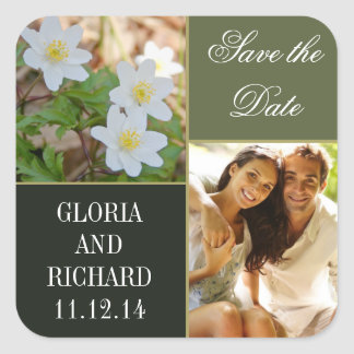 beautiful save the date photo stickers