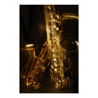 Beautiful Saxaphone Poster