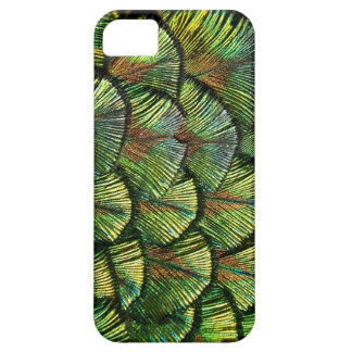 Beautiful Scalloped Peacock Feathers iPhone SE/5/5s Case