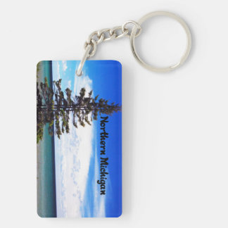 Beautiful scene from Northern Michigan Double-Sided Rectangular Acrylic Keychain