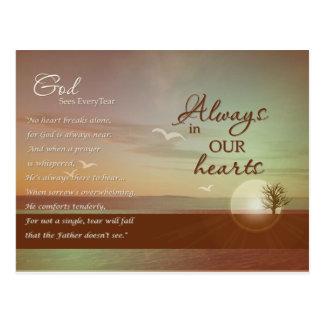 Beautiful scene - sympathy cards post card