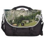 Beautiful scenery in Swiss alps Laptop Messenger Bag