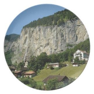 Beautiful scenery in Swiss alps Plates