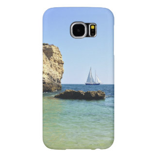 beautiful scenery of sail boat between the rocks samsung galaxy s6 case