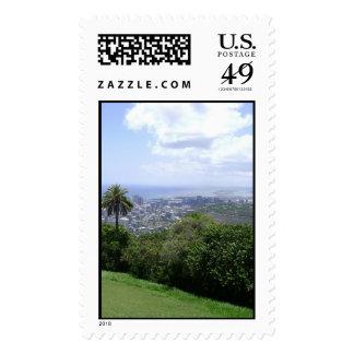 Beautiful Scenery Photo of Honolulu, Waikiki, HI v Stamps