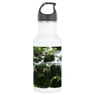 Beautiful scenic forest stream waterfall 18oz water bottle
