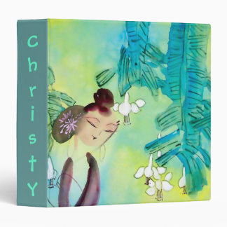 Beautiful School Binder with Chinese Green Motif