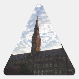 Beautiful school building and sky triangle sticker
