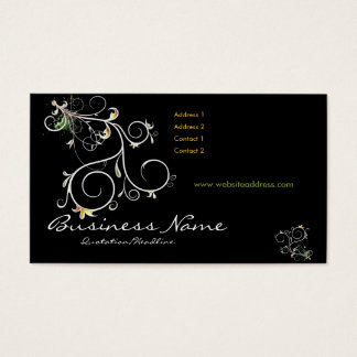 Beautiful Scrollwork Vines D2 - Business Cards