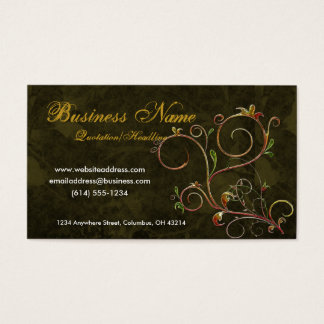 Beautiful Scrollwork Vines D4 - Business Cards