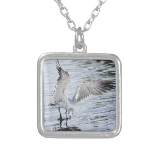 Beautiful Seagull flapping wings Necklace