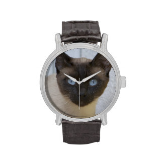 Beautiful Seal Point Siamese Cat Wristwatch