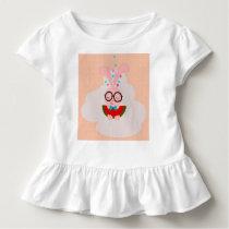 beautiful seamless pattern with a cartoon  rabbit toddler t-shirt