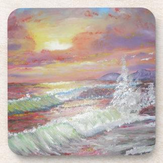 "Beautiful Seascape 18x24"" canvas oil Coaster"