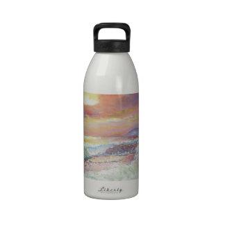 "Beautiful Seascape 18x24"" canvas oil Reusable Water Bottles"