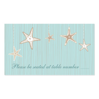 Beautiful Seashell Beach Wedding Table Place Cards Double-Sided Standard Business Cards (Pack Of 100)