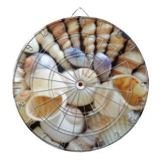 Beautiful Seashells, Summer, Beach, Shells Dartboard With Darts