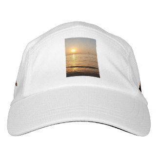 Beautiful seaside sunset hat