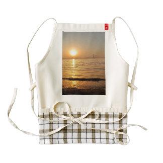 Beautiful seaside sunset zazzle HEART apron
