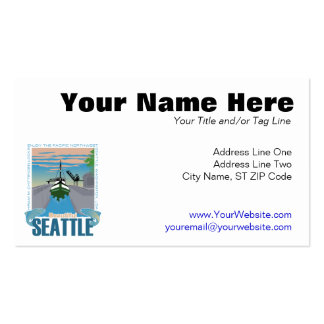 Beautiful Seattle Business Card Template